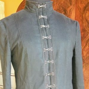 Theory Black Gloria Cropped Miltary Jacket Size: 6